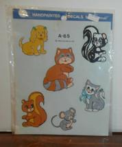 Cute Animals A-65 Decoral Handpainted Waterslide Decals Puppy Kitten Mou... - $6.89