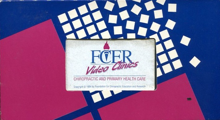 CHIROPRACTIC AND PRIMARY HEALTH CARE VHS VIDEOCASSETTE: FOUNDATION FOR CHIROPRAC