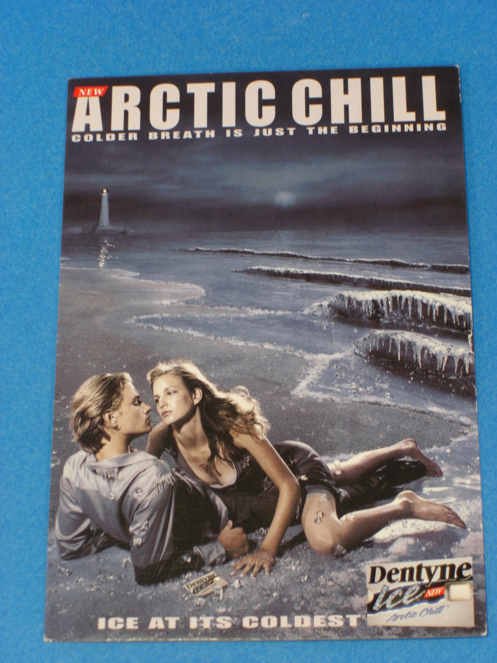 ARCTIC CHILL Ice As It's Coldest Dentyne Ice Postcard