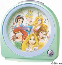 Disney Princess Alarm Clock Green Pearl Cute Gift - $76.67