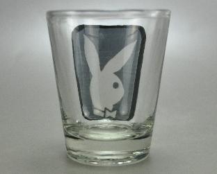 Playboy Bunny Logo White Black Shot Glass