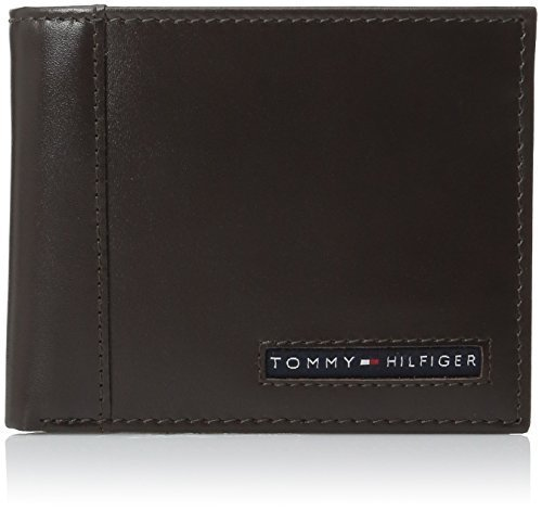 Tommy Hilfiger Men's Leather Cambridge Passcase Wallet with Removable Card Holde