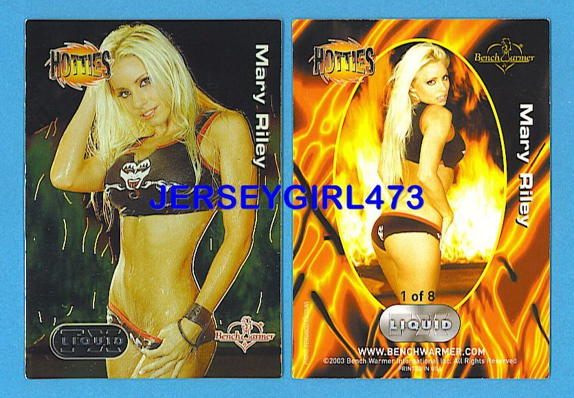Sexy Mary Riley 2003 Bench Warmer Series 2 Hotties Liquid FX Insert Card #1