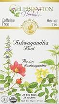 CELEBRATION HERBALS Ashwagandha Root Organic 24 Bag, 0.02 Pound - £10.72 GBP