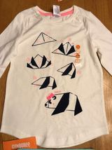 NWT Gymboree Girl's White Panda Origami Shirt & Teal Jeggings Outfit - Size: 5 image 3