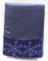 "48"" BEADED BLUE VELVET TREE SKIRT Christmas Holiday Living Decoration De... - $42.52"