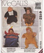 McCall's 6152 Papoose Duck Tuxedo Pirate Costume Pattern - Infant  - $5.95
