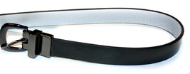 Michael Kors MK Logo Thin Reversible Black/Silver Belt, Size: L - $44.99