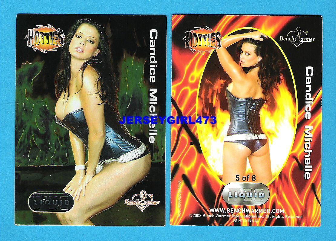 Candice Michelle 2003 Bench Warmer Series 3 Hotties Liquid FX Insert Card #5