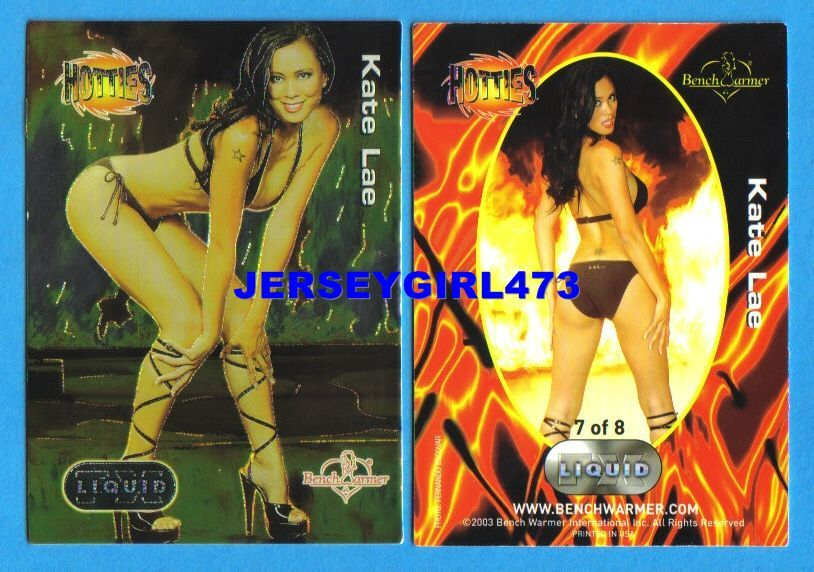 Sexy Kate Lae 2003 Bench Warmer Series 3 Hotties Liquid FX Insert Card #7