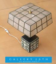 RARE! MID CENTURY MODERN ABSTRACT SQUARES CUBE LAMP! Raymor 50's Vtg B&W... - €741,42 EUR