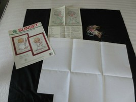 """Sunset BABY ANGEL PAIR Counted Cross Stitch KIT #18313  - 5"""" x 7"""" ea. - $10.00"""