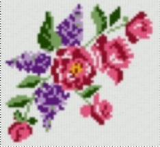 Latch Hook Pattern Chart: READICUT #783 MAY FLOWERS - EMAIL - $5.95