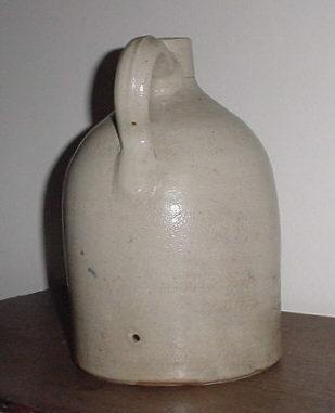 ANTIQUE Stoneware Jug Cobalt Decoration Haxton & Co. Ft Edward NY