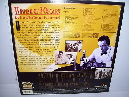 Casablanca Laserdisc 50th Anniversary