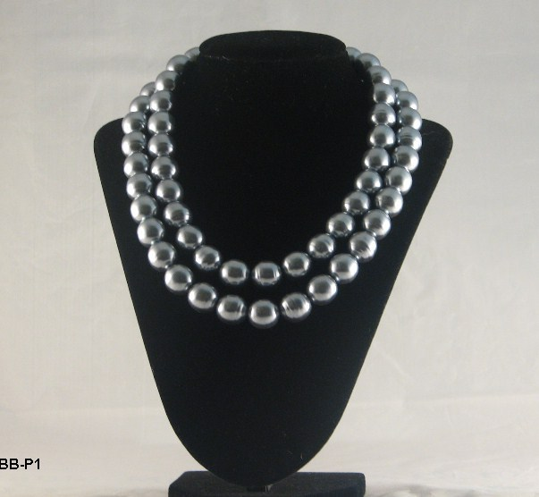 Bb p1 gray ball bearing necklace
