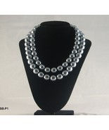 Double Strand  Lucite Silver Gray Necklace - $14.99