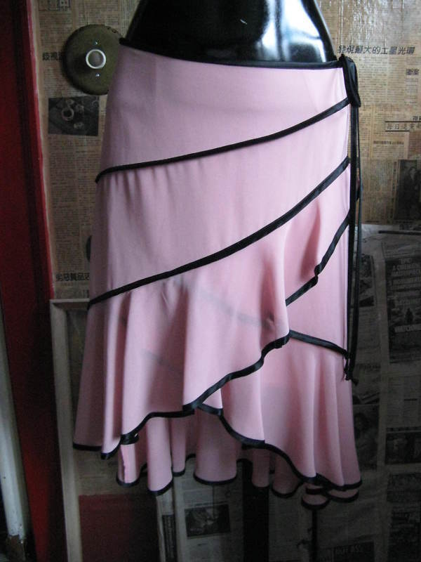 Mystic Salsa Rumba pin-up dance skirt bi-level S VLV - $128.00