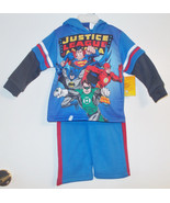 DC Comics Justice League Toddler Boys 2 Piece Hoodie Outfit Size 24M NWT - $10.39