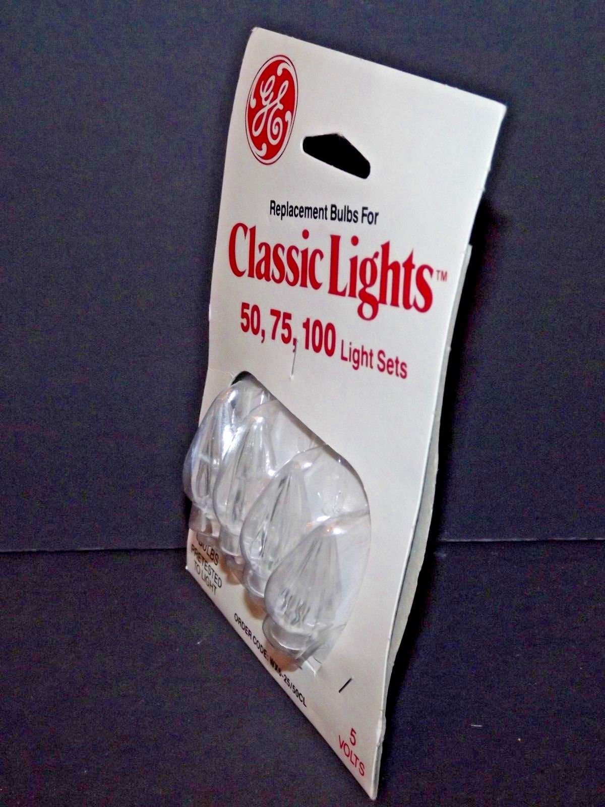 8 Packs of 4 GE Classic Lights Replacement Bulbs for 50, 75, 100 Light Sets (K) image 3