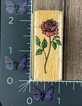 StampCraft Rose Rubber Stamp Flower Long Stem STC011 #U106 - $3.71
