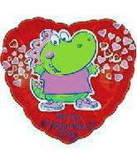 Mylar Balloon Valentines Dinosaur 18 in Lot of ... - $9.99