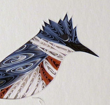 Tiny Quilled Kingfisher - $55.00