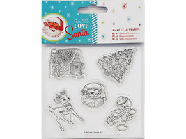 """Docrafts Papermania Love Santa 4x4"""" Clear Stamp #907968"""