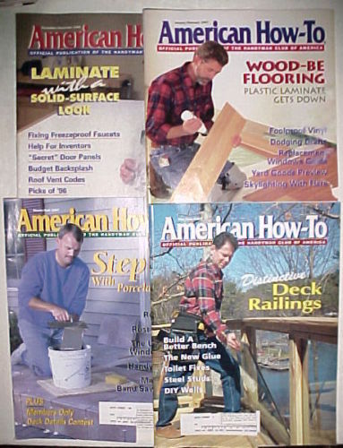 "4 Issues ""AMERICAN HOW-TO"" Magazines-1997-JAN/FEB;MARCH/APRIL;MAY/JUNE;NOV/DEC"