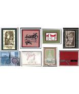 8 handcrafted Holiday CARDS with envelopes-SANTA,NOEL,JOY;BLANK INSIDE;S... - $24.99