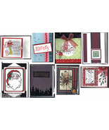 8 handcrafted HOLIDAY CARDS with envelopes-SANTA,reindeer,STOCKING,MERRY... - $24.99