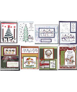 8 handcrafted HOLIDAY CARDS with envelopes-SNOWMEN,MOUSE,PENGUINS,TREE;S... - $24.99