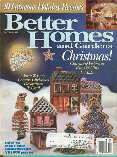 Primary image for BETTER HOMES AND GARDENS 1992-DECEMBER-VICTORIAN TRIMS&GIFTS TO MAKE;COUNTRY CRA