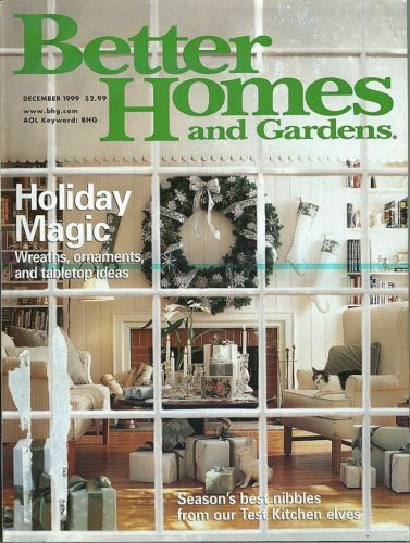BETTER HOMES AND GARDENS 1999-DECEMBER-HOLIDAY MAGIC-WREATHS,ORNAMENTS,TABLETOPS