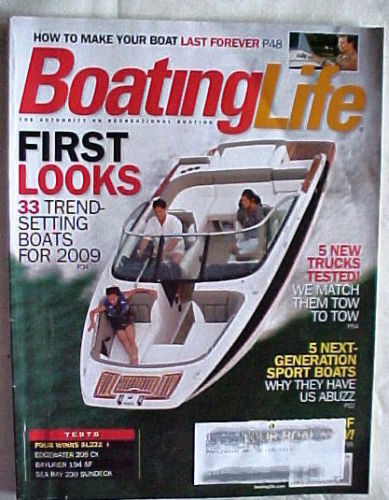 Primary image for BOATING LIFE-NOVEMBER/DECEMBER 2008-33 TREND-SETTING BOATS FOR 2009;5 SPORT BOAT