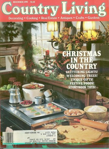 COUNTRY LIVING-1990 DECEMBER-CHRISTMAS IN THE COUNTRY-LIGHTS,TREES,GIFTS,FOODS,T