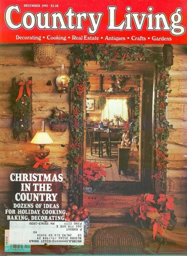 COUNTRY LIVING-1991 DECEMBER-CHRISTMAS IN THE COUNTRY-HOLIDAY COOKING,BAKING,DEC