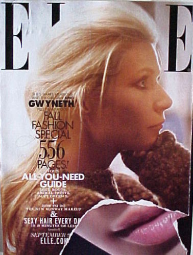 Primary image for ELLE Magazine September 2011 GWYNETH PALTROW Cover HUGE 556 p Issue FALL FASHION