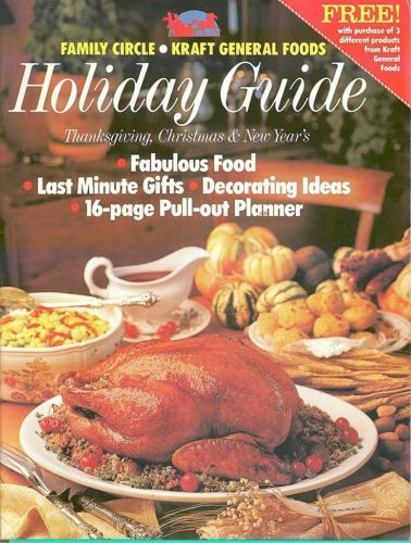 FAMILY CIRCLE-1990 DECEMBER HOLIDAY GUIDE-THANKSGIVING,CHRISTMAS,NEW YEAR'S MENU