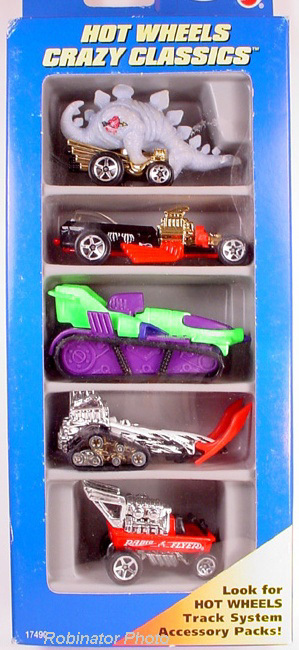 Hot Wheels 1996 Crazy Classics Gift  5 Pack