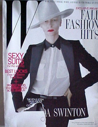 Primary image for W Magazine AUGUST 2011-TILDA SWINTON;SEXY SUITS;BEST LOOKS;FALL FASHION HITS;BAG