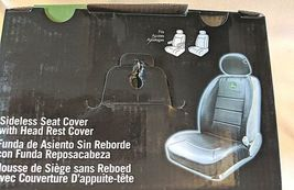 John Deere LP49603 Polyvinyl Black Sideless Seat Cover With Head Rest Cover image 9