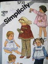 Simplicity  5733 Vintage Used Girls 1 Pattern 60s Smock - $5.95