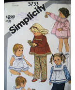 Simplicity  5733 Vintage Used Girls 1 Pattern 60s Smock - $5.95
