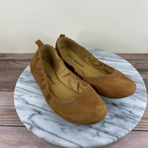 Lucky Brand Emmie Brown Leather Casual Ballet Flats Womens Size 7 - $24.95