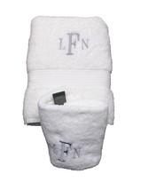 Ralph Lauren Greenwich Bath Towel Set of 2 White Personalized LFN Initia... - $24.45