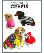 McCalls' M5544 Dog Clothes Pets Pullovers Pattern XS-S-M - $8.99