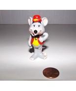 Vintage 1985 Showbiz Pizza Time Gray Mouse PVC Mini Figurine Hat Hand on... - $9.99