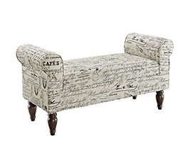 Linon Lillian Bench, Linen - Delivered to your doorstep FREE (USA) - $189.99