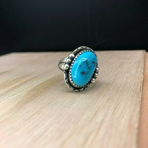 Vintage Navajo Sterling Silver Turquoise Ring Sz 6 - $894,87 MXN